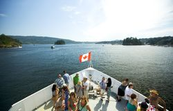 Boat trip in Canada. Royalty Free Stock Photos