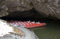 Boat trip on the caves. Royalty Free Stock Photos