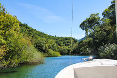 Boat trip on the Cetina Stock Photography