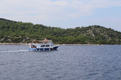 Boat trip in Croatia Royalty Free Stock Photography