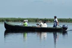 Boat trip in the Danube delta, Romania Royalty Free Stock Image
