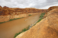 Boat trip in Glen Canyon Stock Image