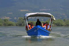 Boat trip in Kerkini lake ,Greece Royalty Free Stock Image