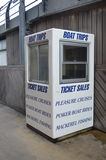 Boat trip kiosk. Royalty Free Stock Photography