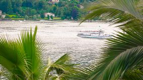 Boat trip, lake Maggiore. Boat trip lake Maggiore. Summer day Italy stock footage