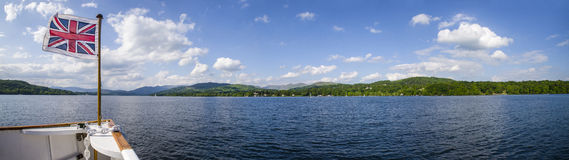 Boat Trip on Lake Windermere the British Lake District Stock Photos
