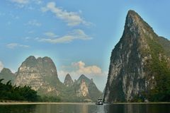Boat trip on the Li river near Yangshuo. Stock Image