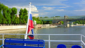 Boat trip in moscow stock video