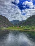 Boat trip Norway. Boat trip in Norway, river, nature, fjord, landscape, sky, view, amazing, beautiful stock images