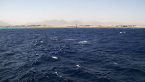 Boat Trip on the Pleasure Boat in the Red Sea with Views of the Coast Sinai Peninsula, Egypt stock footage