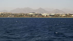 Boat Trip on the Pleasure Boat in the Red Sea with Views of the Coast Sinai Peninsula, Egypt stock video footage