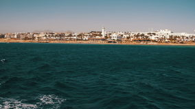Boat Trip on the Pleasure Boat in the Red Sea with Views of the Coast Sinai Peninsula, Egypt stock video