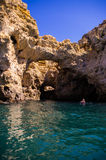 Boat trip on Praia Santa Ana ,near Lagos, Portugal Stock Photo