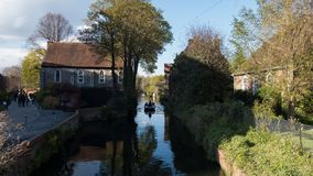 Boat trip on the River Stour, Canterbury royalty free stock photos
