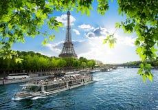 Boat trip on Seine Stock Photo