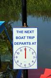 Boat Trip sign, Tewkesbury. Royalty Free Stock Photography