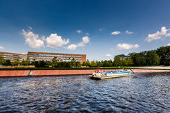 A Boat Trip in the Spree River, Berlin Royalty Free Stock Photography