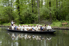 Boat trip in the Spreewald Royalty Free Stock Image