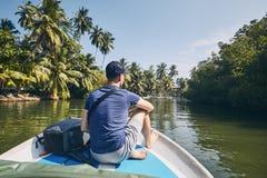 Boat trip in Sri Lanka stock photography