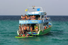 A boat trip to the island of Baboo, Thailand Stock Images