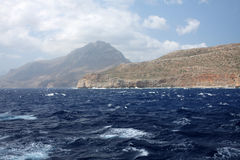 Boat trip to pirate island Gramvoussa. Crete Royalty Free Stock Image