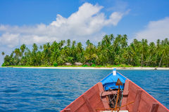 Boat trip to remote tropical island. Banyak islands, Aceh, Indonesia, Southeast Asia Royalty Free Stock Image