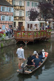 Boat trip tourism on water at little Venise quarter Stock Image