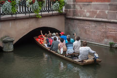 Boat trip tourism on water at little Venise quarter Royalty Free Stock Images