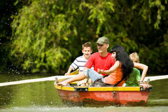 Boat Trip With Family Stock Photography