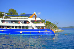 Boat trippers amusement Royalty Free Stock Photos