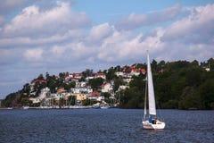 Boat trips along the coast Stock Photos