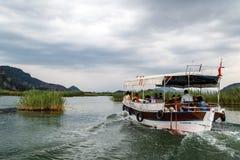 Boat Trips in Dalyan Stock Image