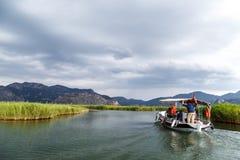 Boat Trips in Dalyan Stock Photo