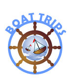 Boat trips - label Stock Photos