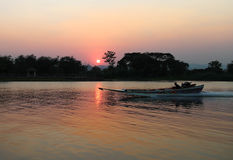 Boat trips on the river Kwai Stock Image