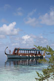 Boat in tropical sea Royalty Free Stock Images