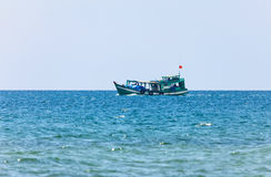 Boat in the tropical sea. Stock Image