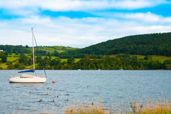Boat On Ullswater Lake Royalty Free Stock Photo