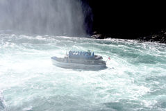 Boat under Niagara Falls Royalty Free Stock Photo