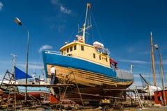 Boat under repair Stock Images