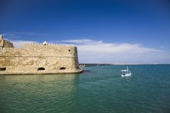 Koules Fortress in Heraklion. Island of Crete in Greece. royalty free stock image