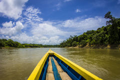 Boat on Usumacinta river Stock Image