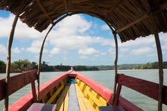 Boat on Usumacinta river, Mexico Royalty Free Stock Photography