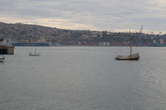 Boat of Valparaíso stock image