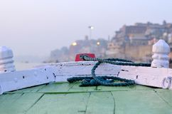 Boat on Varanasi Royalty Free Stock Photography