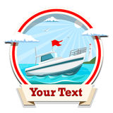 Boat vector illustration Royalty Free Stock Images