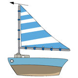 Boat vector. On white background Royalty Free Stock Photo