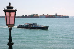 Boat on Venetian lagoon Stock Photo