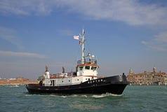 Boat  in Venetian lagoon. VENICE, ITALY Stock Photo