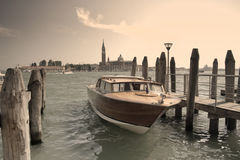 Boat in venice. Boat at the great channel near Piazza di San Marco, Venice Stock Images